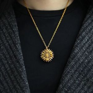You are my sunshine gold plated unisex  necklace